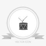 Drum vector icon Royalty Free Stock Images
