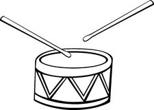 Drum vector illustration Royalty Free Stock Photography