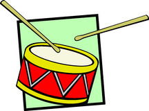 Drum vector illustration Stock Photos