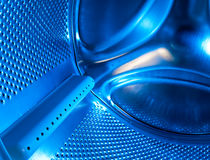 Drum of the washing machine inside Stock Image