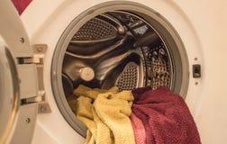 Home duties, laundry. royalty free stock photo