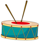 Drum with wooden sticks Stock Photo