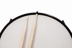 Drumhead & stick Royalty Free Stock Images