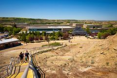 Building of the Royal Tyrrell Museum of Palaeontology in Alberta Royalty Free Stock Image