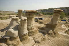 Drumheller Hoodoos Stock Photography