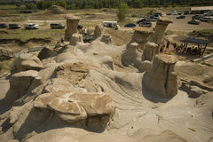 Drumheller Hoodoos Stock Photo