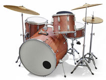 Drumkit. A Jazz drumkit on a white background Royalty Free Stock Image