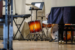 Drumkit and other jazz instruments Stock Photo