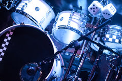 Drumkit on stage Stock Photos