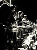 Drumline arkivbild