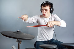 Drummer Stock Image