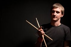 A drummer Stock Image