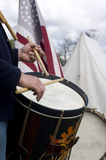Civil War Reenactment March Drummer Musician stock photography