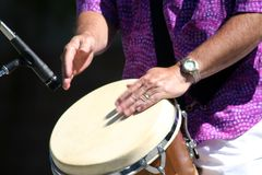 Drummer. In park during Brasilfest Royalty Free Stock Photo