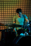 Drummer. Andrew Sleath of O. Children in concert on november 17 in bucharest, romania Royalty Free Stock Photo