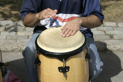 Drummer. Street drummer royalty free stock photography