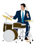 Drummer. Adult Male playing the drums Stock Photography