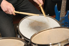 The drummer in action Stock Image