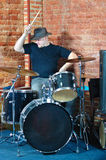 Drummer  in action Stock Photography