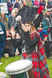 Drummer in action at Braemar Royal Gathering Stock Photography