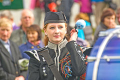 Drummer ar Braemar. Stock Photo