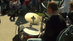 The drummer in the band stock footage
