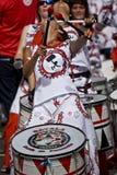 A drummer from Batala Banda de Percussao Royalty Free Stock Photos