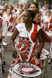 Drummer from Batala Banda de Percussao Royalty Free Stock Image
