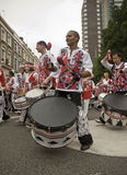 Drummer from Batala Banda de Percussao Royalty Free Stock Photography