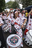 Drummer from Batala Banda de Percussao Royalty Free Stock Photo