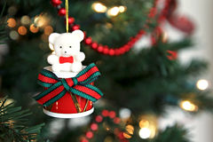Drummer Bear Ornament Royalty Free Stock Image