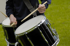 Drummer Boy. Boy drumming in a marching band stock photography