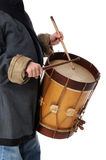 Drummer Boy Playing Royalty Free Stock Image