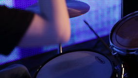 Drummer closeup stock video footage