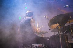 Drummer in concert Royalty Free Stock Image