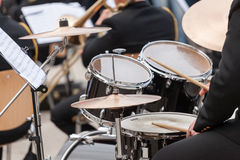 A drummer on the concert. Stock Photo