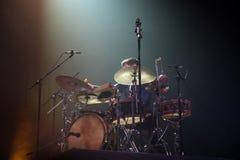 Drummer in concert Stock Photo