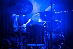 Drummer at the concert Royalty Free Stock Photography
