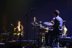 Drummer in concert Royalty Free Stock Images