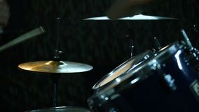 Drummer Drumming On Drums. Close Up stock video