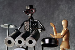 Drummer figurines Royalty Free Stock Images