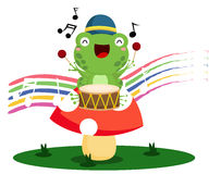 Drummer Frog Stock Photography