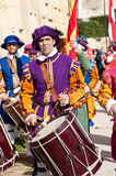 Drummer in In Guardia Parade Stock Photos