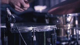 Drummer Hand Silhouette With Drumstick stock footage