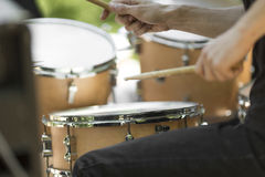 Drummer hands Royalty Free Stock Photo
