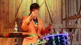 Drummer stock video footage