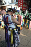 Drummer in Japanese festivals Stock Images