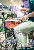 Drummer on the jazz concert Royalty Free Stock Photos