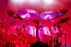 Drummer Jim Shadgett on stage with blues band, Jackhammer Stock Images