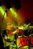 Drummer Jim Shadgett on stage with blues band, Jackhammer royalty free stock photos